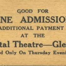 Image of Ticket, Admission - Crystal Theatre ticket