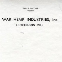 Image of Stationery - Hemp Plant letterhead