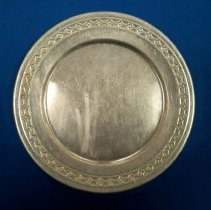 Image of Plate, Dinner - Toy tin plate