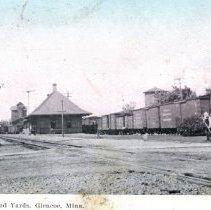 Image of R.R. Depot , Park & Yards, Glencoe, MN