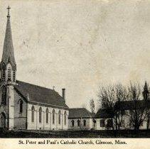 Image of Postcard - St. Peter and Paul's Catholic Church, Glencoe, Minn.-Postcard