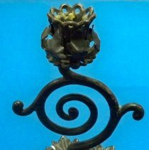 Image of Candlestick - Black Iron candlestick
