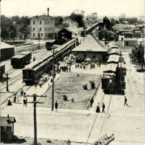 Image of R.R. Depot  & Park, Glencoe, MN