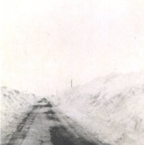 Image of Print, Photographic - Snowy Road near District 32
