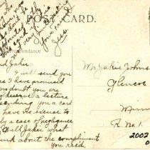 Image of Lincoln Park, Glencoe-postcard, reverse