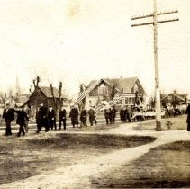 Image of Lester Prairie parade,1917-postcard