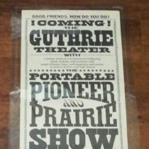 Image of Portable Pioneer and Prairie Show