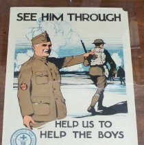 """Image of Poster - """"See Him Though"""" World War I poster"""