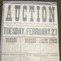 Image of Advertisement - H, J. Beebe Auction advertisement