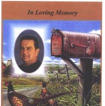 """Image of Card, Mourning - Calvin """"Kelly"""" West funeral memorial card"""