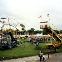 Image of Print, Photographic - Midway, old McLeod County Fairgrounds, Hutchinson MN