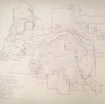 Image of Official zoning map of Hutchinson, c. 1989