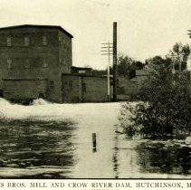 Image of Ames Bros. Mill & Crow River Dam, Hutchinson, MN