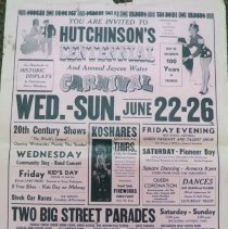 Image of Poster - Hutchinson Centennial and Water Carnival, 1955