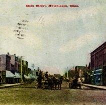 Image of Postcard - Main Street, Hutchinson, MN-Postcard