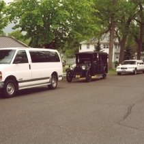 Image of Print, Photographic - Old & new funeral vehicles