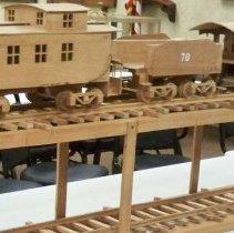 Image of Carving - Wooden Train #78 & track