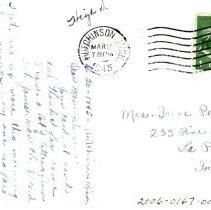 Image of Public School, Hutchinson, Minn-postcard, reverse