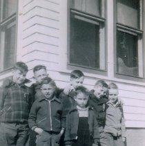 Image of Seven boys, Husske house, Sumter Twp