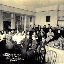 Image of Junior Class, High School-Hutchinson, Minn-Postcard