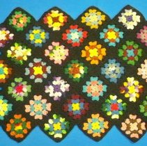 Image of Cover, Pillow - Crocheted granny square pillow cover