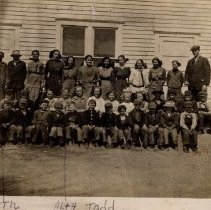 Image of District # 30, Sumter Township, students & teacher-postcard