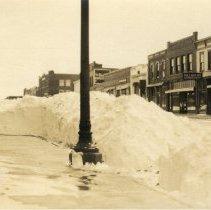 Image of Postcard - 1924 Snow Storm, Main St. Hutchinson, MN-postcard