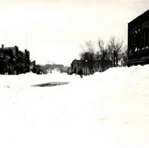 Image of Postcard - Main St Hutchinson, after the snow storm of March 1924-postcard
