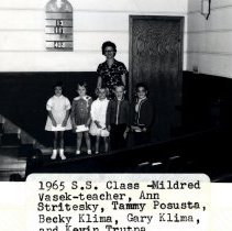Image of Print, Photographic - Sunday School, Congregational Church, Silver Lake, 1965