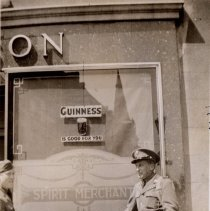 Image of Print, Photographic - Soldiers in uniform at local pub, Northern Ireland, 1942
