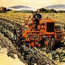"Image of Allis-Chalmers Model ""C"" tractor-postcard"