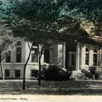 Image of Public Library, Hutchinson, Minn.-postcard