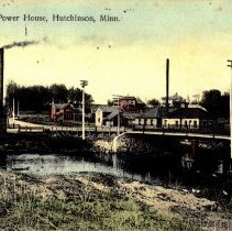 Image of Postcard: Bridge and Power House, Hutchinson, Minn.