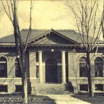 Image of Public Library Hutchinson, Minn-postcard