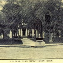 Image of Central Park, Hutchinson, Minn-postcard