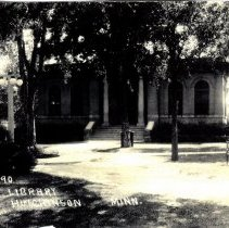 Image of Library, Hutchinson, Minn-postcard