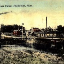 Image of Postcard: Bridge & Power House, Hutchinson, Minn.