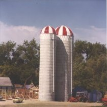 Image of Print, Photographic - Silos built by Rockite Silo Company