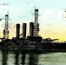"Image of U. S. Battleship ""Maine""-postcard"