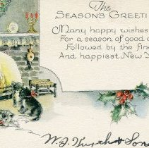 Image of Card, Greeting - Christmas card