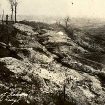 Image of Postcard - German line of trenches behind Vimy Ridge-postcard