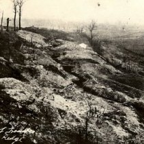 Image of Postcard - German line of Trenches behind Vinny Bridge-postcard