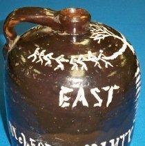 Image of Jug - Brown clay shoulder jug