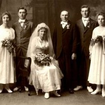 Image of Print, Photographic - Edna Woestehoff & Gust Kruschke wedding, 1917