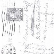 "Image of Postcard-Hutchinson City Jail ""Coop"", reverse postcard message"