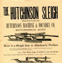 Image of Advertisement: The Hutchinson Sleigh