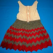 Image of Child's cotton & crocheted underskirt