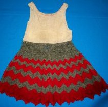 Image of Child's cotton and crocheted underskirt