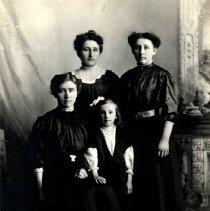 Image of Postcard - Kucera women & girl-postcard