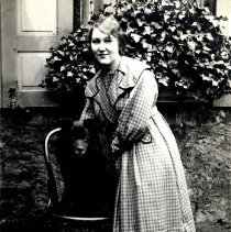 Image of Print, Photographic - Unknown woman with dog-postcard